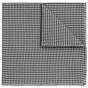Charles Tyrwhitt Black & White Puppytooth Pocket Square