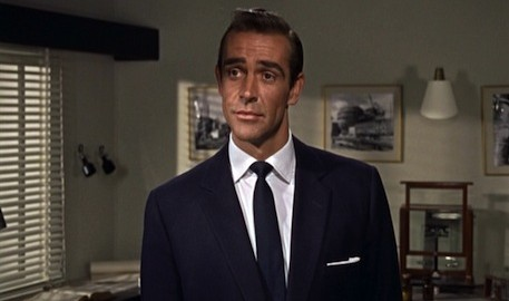 Dr No James Bond Navy Grenadine Tie