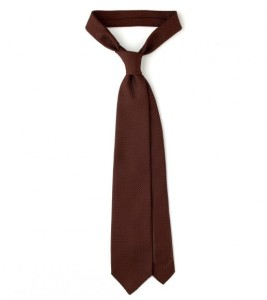 Drakes London Brown Grenadine Tie