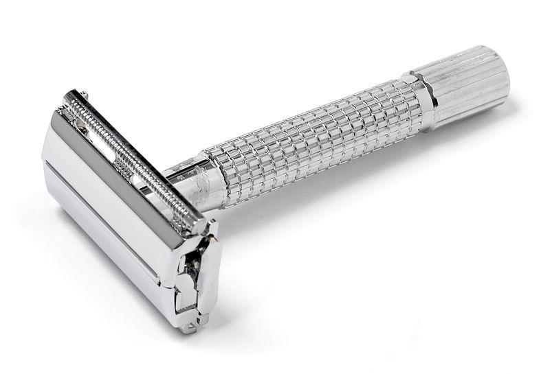 Traditional wet shaving with a double-edged safety razor uses less waste than shaving with cartridge razors. The only waste is a single metal razor blade and lather down the sink. Unlike today's razor cartridges, a double-edged blade can easily be recycled.
