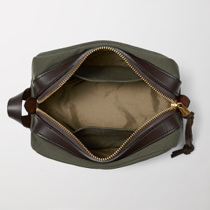 Filson Dopp Kit Unzipped