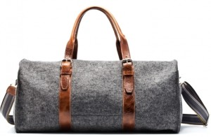 Graf Lantz Gray Merino Wool Duffel Bag
