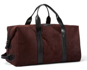 Killspencer Burgundy Oil Suede Weekender Bag