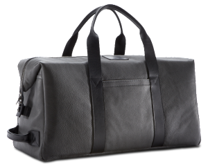 Killspencer Grey Leather Weekender Bag