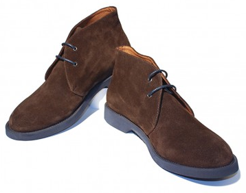 Thomas Dean Brown Suede Chukkas With Contrasting Micro Soles