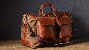 Will Leather Canvas Traveler Duffle Bag