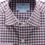 Hugh Crye Loire Mulberry Gingham Dress Shirt