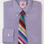J Press Purple Gingham Shirt