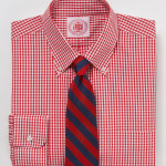 J Press Red Gingham Shirt
