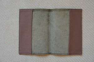 Leather & Canvas Passport Case