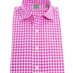 Sid Mashburn Berry Gingham Dress Shirt