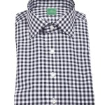 Sid Mashburn Black Gingham Dress Shirt
