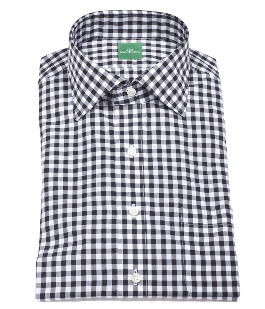 mashburn black gingham dress shirt post modern