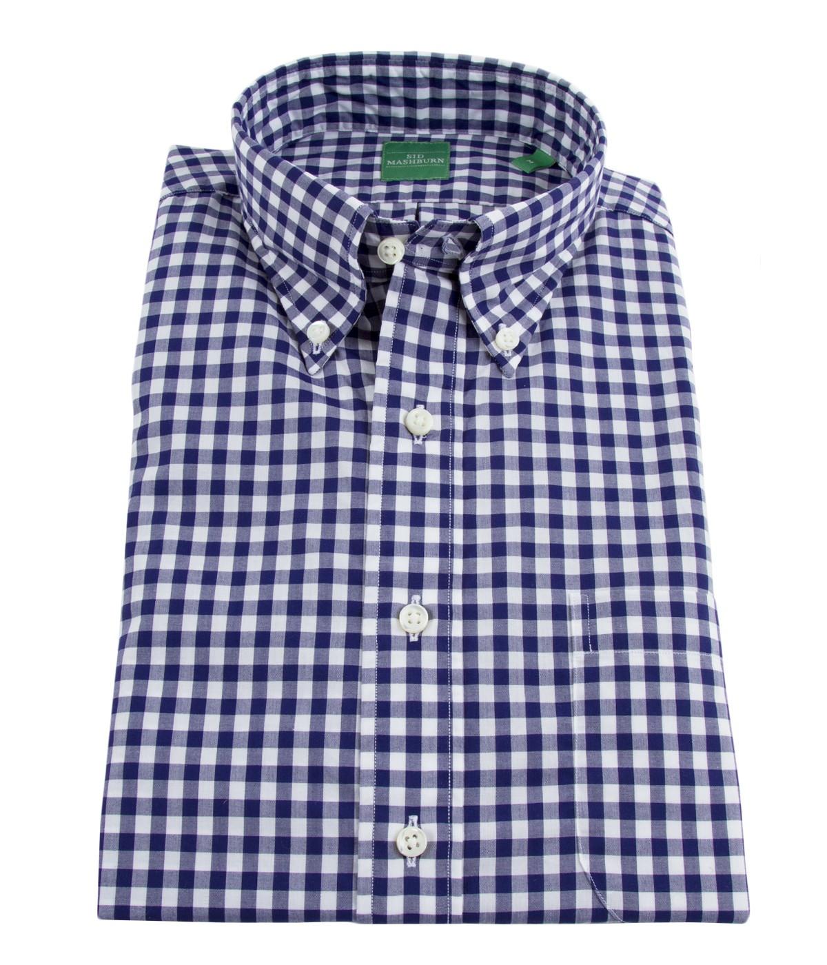 Mashburn blue gingham button down collar post modern for Blue gingham button down shirt