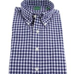 Mashburn Blue Gingham Button Down Collar