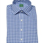 Sid Mashburn Blue Gingham Dress Shirt