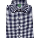 Sid Mashburn Navy Gingham Button Down Collar