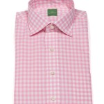 Sid Mashburn Pink Gingham Dress Shirt