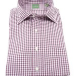 Sid Mashburn Plum Gingham Dress Shirt