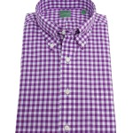 Mashburn Purple Gingham Button Down Collar