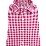 Sid Mashburn Red Gingham Dress Shirt