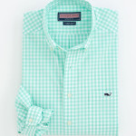 Vinyard Vines Sea Green Gingham Sport Shirt.jpg