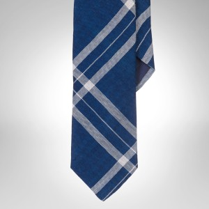 Polo Ralph Lauren Narrow Indigo Dyed Plaid Tie