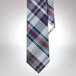 Polo Ralph Lauren Narrow Madras Cotton Tie