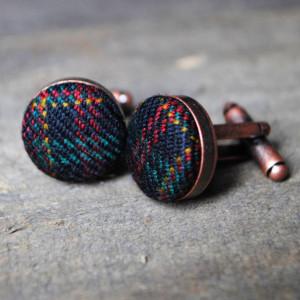 parkin lewis vintage wool cufflinks
