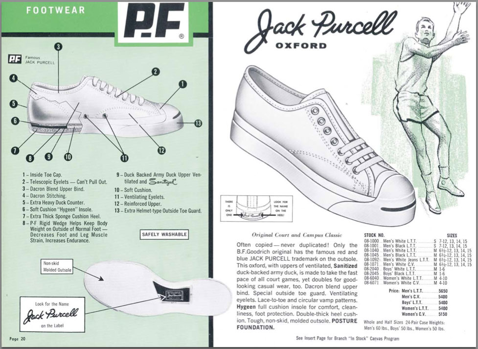 pf jack purcell ad