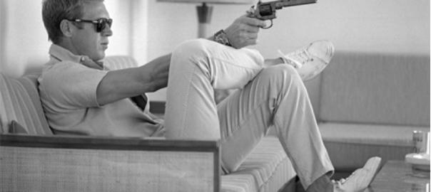 Steve McQueen w/ Gun