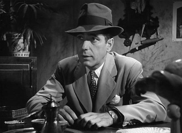 Humphrey Bogart wearing fedora
