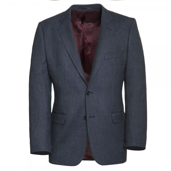magee 1866 lightweight blue tweed jacket