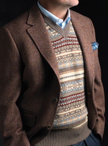 Ben Silver Fair Isle Sweater