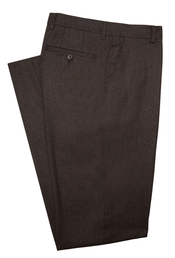 jpress brown wool flannel trousers