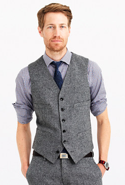 donegal tweed vest from j crew