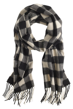 j crew mens plaid cashmere scarf