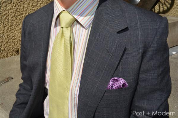 Vintage Oxxford Summer Suit Closeup