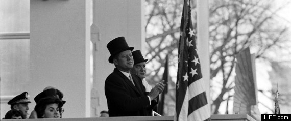 president kennedy top hat 1961 inauguration